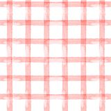 Watercolor seamless background pink strip, cage on white background Royalty Free Stock Image