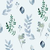 Watercolor seamless pattern royalty free stock images