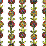 Watercolor seamless floral mosaic pattern Stock Photo