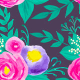 Watercolor seamless floral pattern Royalty Free Stock Photography