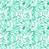 Watercolor seamless floral pattern borders. drawing painting bac. Kground . Backdrop, background, fabric, Wallpaper. Summer abbstract flowers design stock illustration
