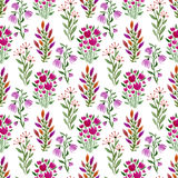 Watercolor seamless floral pattern. Fashion watercolor nature background Stock Photography