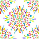 Watercolor seamless floral pattern Royalty Free Stock Image