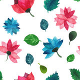 Watercolor seamless floral pattern. Flowers texture. Royalty Free Stock Image