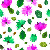 Watercolor seamless floral pattern. Flowers texture. Stock Photography