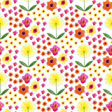 Watercolor seamless floral pattern. Hand paint watercolor background with dandelion. Royalty Free Stock Photography