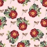 Watercolor seamless flower pattern for wedding design inspiration vector illustration