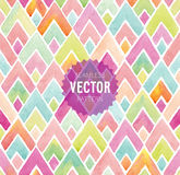 Watercolor seamless geometric pattern. Vector illustration Stock Images