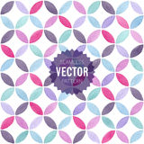 Watercolor seamless geometric pattern. Vector illustration Royalty Free Stock Photos