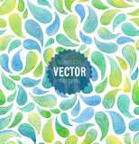 Watercolor seamless geometric pattern. Vector illustration Royalty Free Stock Photography