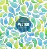 Watercolor seamless geometric pattern. Vector illustration stock illustration