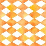 Watercolor  seamless geometric patterns set. Hand drawn painted seamless geometric patterns set. Vector illustration Stock Images