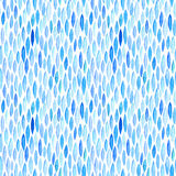 Watercolor seamless pattern with blue, azure leaves. Stock Photography