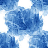 Watercolor seamless pattern blue brush strokes background design Stock Image