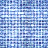 Watercolor seamless pattern with blue rectangle. Royalty Free Stock Images