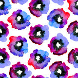 Watercolor seamless pattern. Royalty Free Stock Image