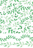 Watercolor seamless pattern,border.Vintagegreen Royalty Free Stock Images