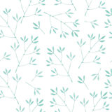 Watercolor seamless pattern with branches. Stock Image