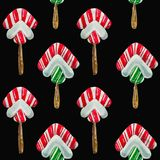 Pattern `Christmas sweets` Stock Photography