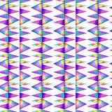 Watercolor seamless pattern. With colofrul triangles on white background. Raibow prink or wallpaper Royalty Free Stock Image