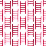 Watercolor seamless pattern with fire ladder on. The white background, aquarelle pencil.  Vector illustration. Hand-drawn simple decorative element useful for Royalty Free Stock Image
