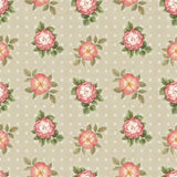 Watercolor seamless pattern with flowers illustration Stock Photo