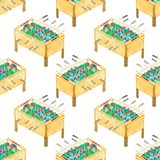Watercolor seamless pattern with foosball tables Royalty Free Stock Photography