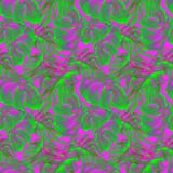 Watercolor Seamless Pattern. Hand Painted Illustration of Tropical Leaves and Flowers. Tropic Summer Motif with Liana Pattern. Liana Pattern Watercolor Seamless Stock Image