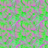 Watercolor Seamless Pattern. Hand Painted Illustration of Tropical Leaves and Flowers. Tropic Summer Motif with Liana Pattern. Liana Pattern Watercolor Seamless Stock Photography