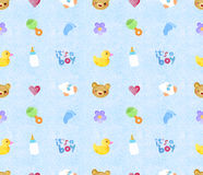 Watercolor seamless pattern handmade Stock Photography