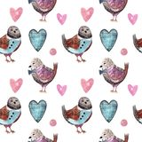 Watercolor seamless pattern for kids royalty free illustration