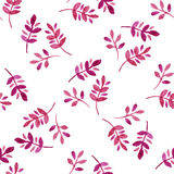 Watercolor seamless pattern with leaves. Vector illustration Stock Photos