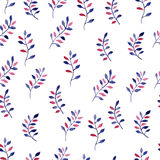 Watercolor seamless pattern with leaves. Vector illustration Stock Photography