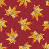 Watercolor seamless pattern with leaves. Vector illustration Royalty Free Stock Photos