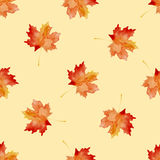 Watercolor seamless pattern with leaves. Vector illustration Royalty Free Stock Photography