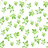 Watercolor seamless pattern with leaves. Vector illustration Stock Image