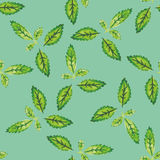 Watercolor seamless pattern with leaves. Vector illustration Stock Images