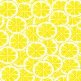 Watercolor seamless pattern of lemon fruit. Watercolor Lemon Patter. Yellow Watercolor Lemon Slices Pattern. Watercolor seamless pattern with yellow lemons Stock Photo
