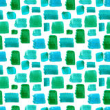 Watercolor seamless pattern. Mosaic geometric background. Hand drawn pattern. Modern abstract wallpaper royalty free illustration