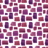 Watercolor seamless pattern. Mosaic geometric background. Hand drawn pattern. Modern abstract wallpaper stock illustration