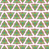 Watercolor seamless pattern in oriental style. Tatar pattern. Royalty Free Stock Photography