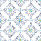 Watercolor seamless pattern, renaissance ornament Stock Image