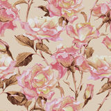 Watercolor Seamless Pattern with Roses. Watercolor Floral Seamless Pattern with Garden Roses stock photography