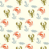 Watercolor seamless pattern Stock Photography