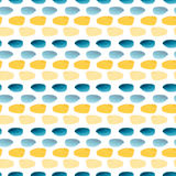 Watercolor seamless pattern with simple texture. Modern textile design in yellow and blue colors. royalty free illustration