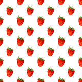 Watercolor seamless pattern with strawberries . Vector background. Hand drawn texture Royalty Free Stock Image