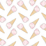 Watercolor seamless pattern. Sweet life Royalty Free Stock Photography