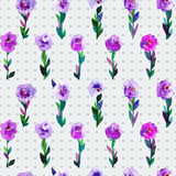 Watercolor seamless pattern with tulips and polka dot  background. Background for web pages, wedding invitations, save the date ca Royalty Free Stock Photo