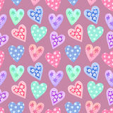 Watercolor seamless pattern for Valentine's day Stock Photo