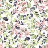 Watercolor seamless pattern. royalty free stock photos